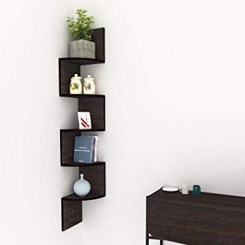 Traveller Location: Corner Floating Shelves, Modern 5 Tier Corner Shelves, Mount  Home Decor Display Shelf: Home & Kitchen