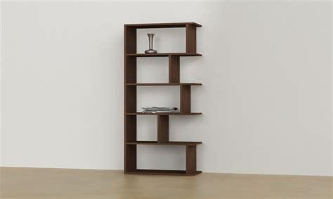 Wenge bookcase, modern corner bookshelf red contemporary