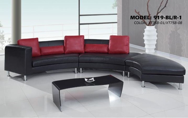 Contemporary S Curved Sectional Sofa with Contrasting Modern Pillows 919-SEC