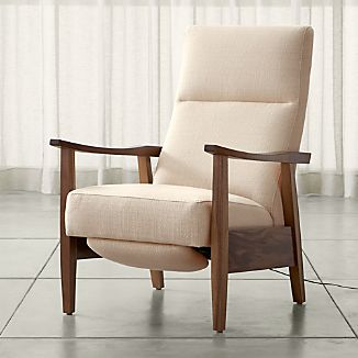 Greer Fabric Wood Arm Power Recliner