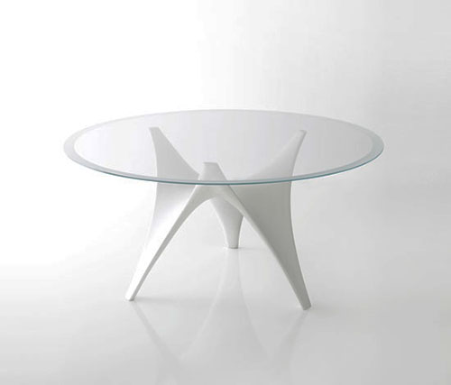 Modern Round Glass Dining Table by Molteni u2013 Arc