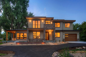 Contemporary Exterior - Front Elevation Plan #1042-19