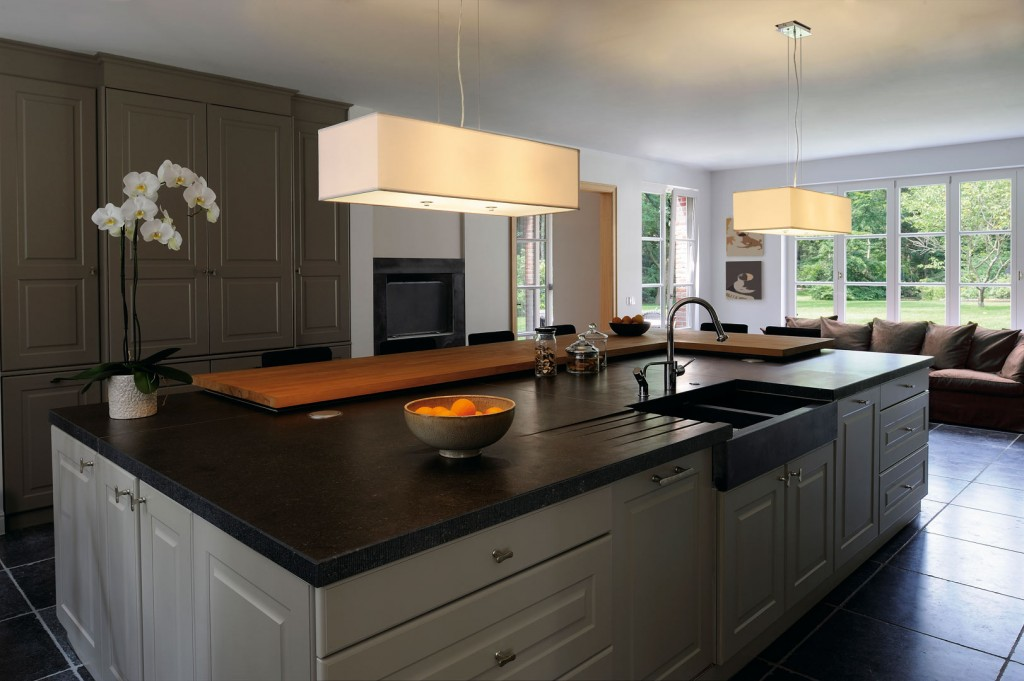 lighting kitchen island with suspension lights