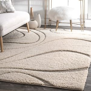 Image is loading nuLOOM-Shaggy-Curves-Design-Contemporary-Modern-Shag-Area-
