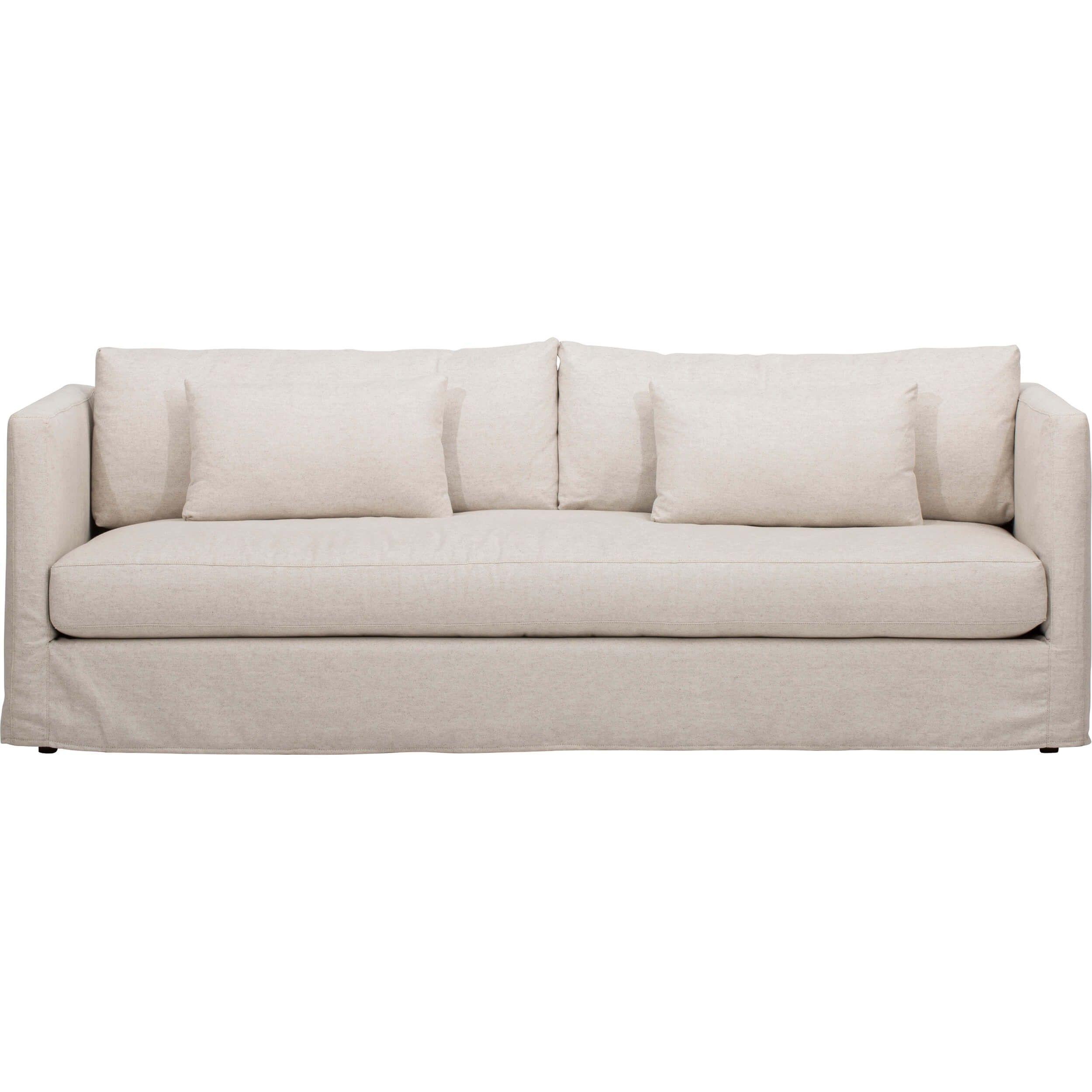 Lucinda Grand Slipcover Sofa, Duet Natural