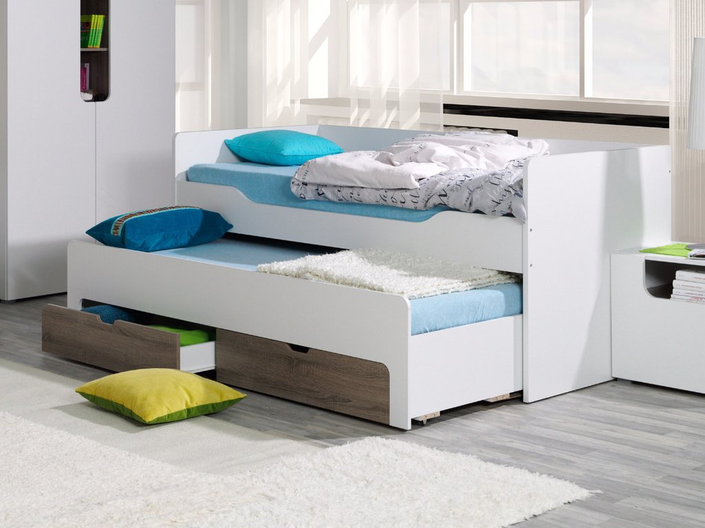 Modern Trundle Bed with Storage
