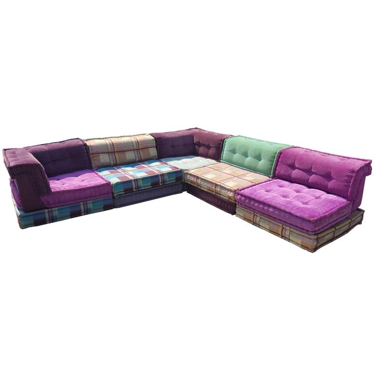 Mah Jong Modular Sofa by Roche Bobois For Sale