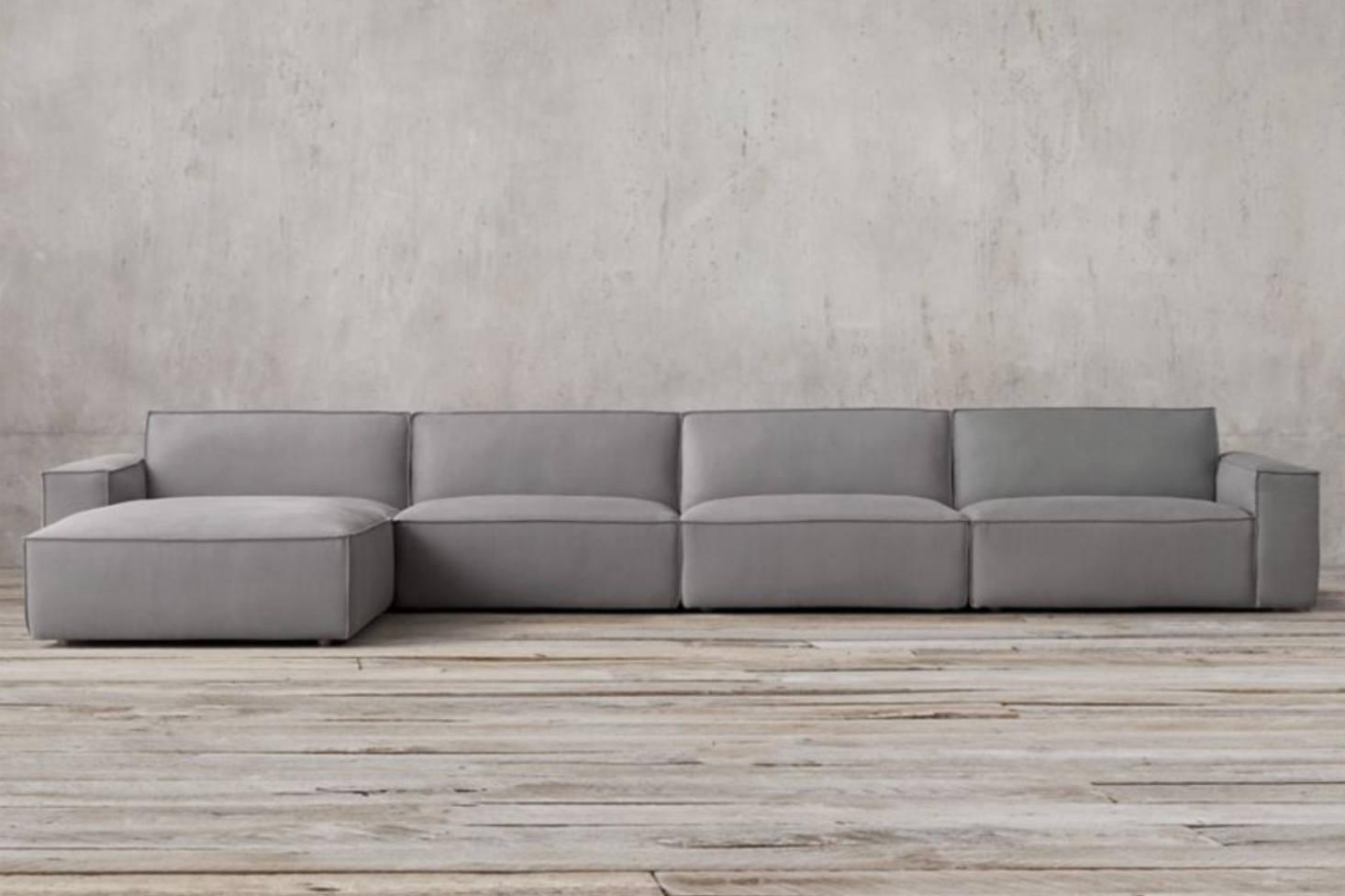 Even Restoration Hardware jumped on the clunky modular sofa bandwagon with  their Como Modular Sofa Sectional