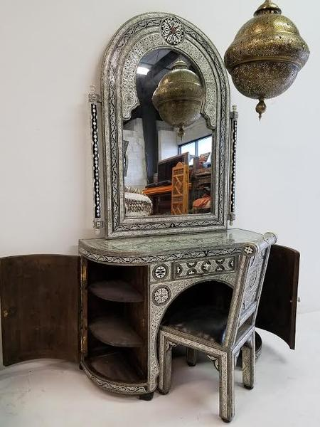 Moroccan Inlaid bone set | Exquisite moroccan furniture | inlay bone