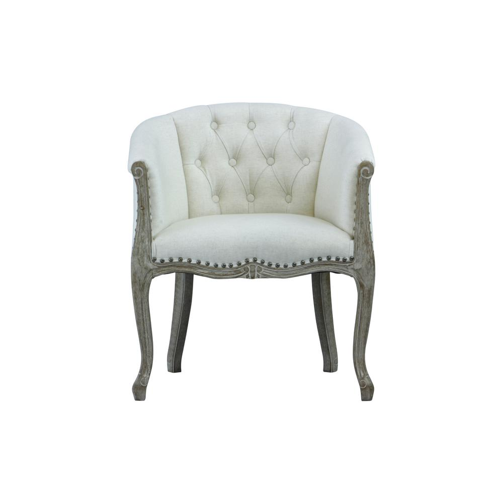 Lux Home Jocelyn Upholstered Beige Occasional Chair