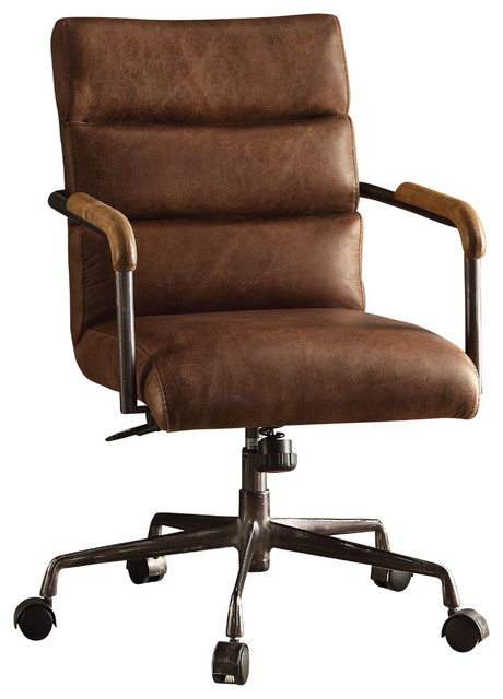 Antonio Leather Executive Office Chair, Vintage Brown