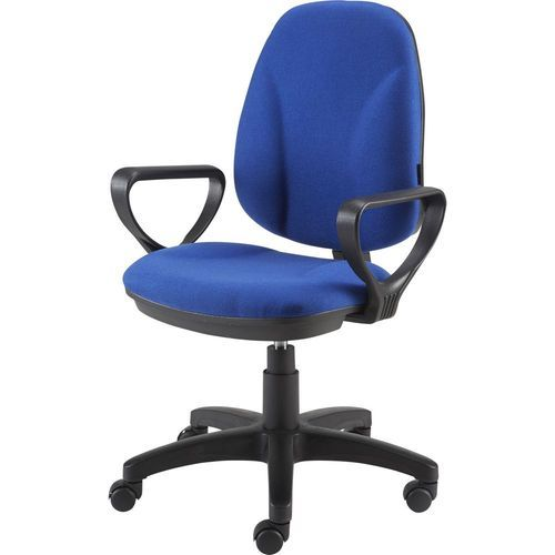 Microfiber Seat Blue Office Chair