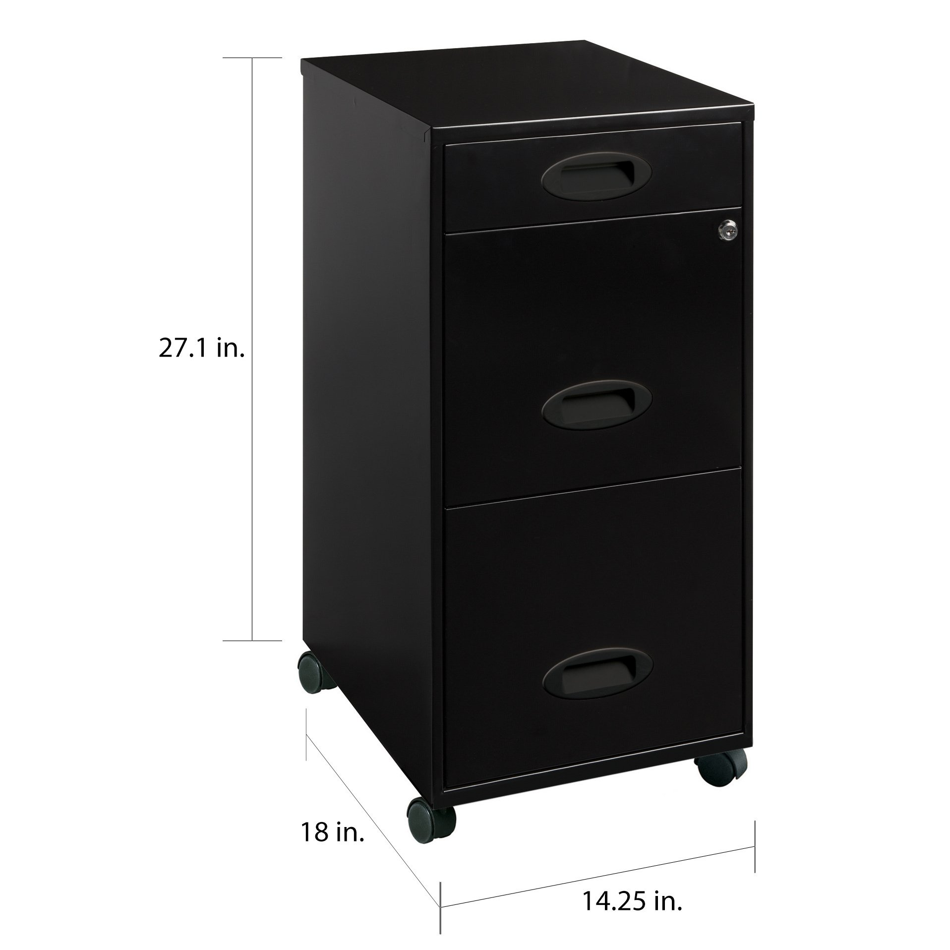 Shop Office Designs Black 3-drawer Mobile File Cabinet - Free Shipping  Today - Overstock - 5853287