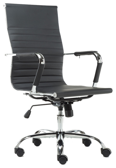 Pearce High-Back Adjustable Office Chair, Black - Contemporary - Office  Chairs - by BTExpert