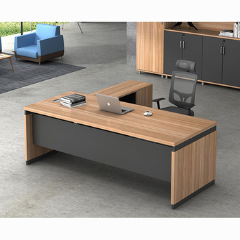 Latest modern l-shape executive wooden office tables design
