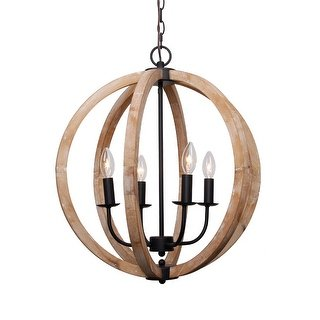 Shop Antique 4-Light Distressed Wood Orb Chandelier - Free Shipping Today -  Overstock - 20577238