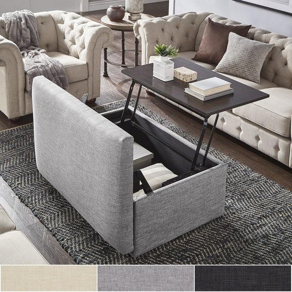 Shop Landen Lift Top Upholstered Storage Ottoman Coffee Table by iNSPIRE Q  Artisan - On Sale - Free Shipping Today - Overstock - 22377961