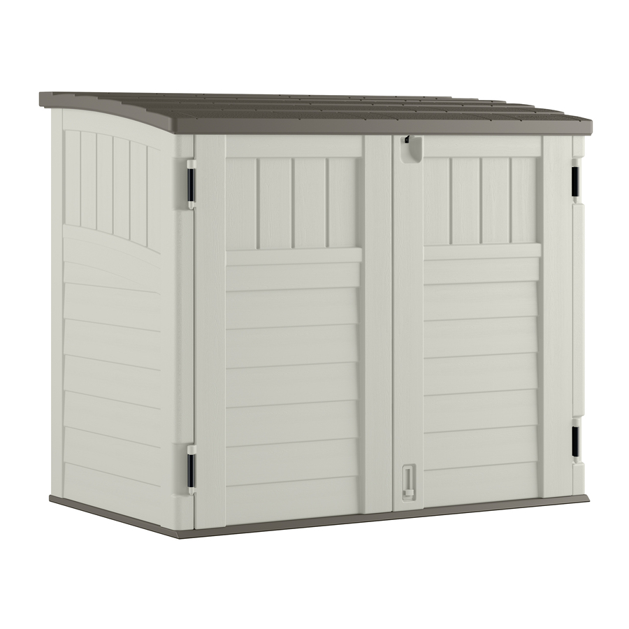 Display product reviews for Vanilla Resin Outdoor Storage Shed (Common:  53-in x