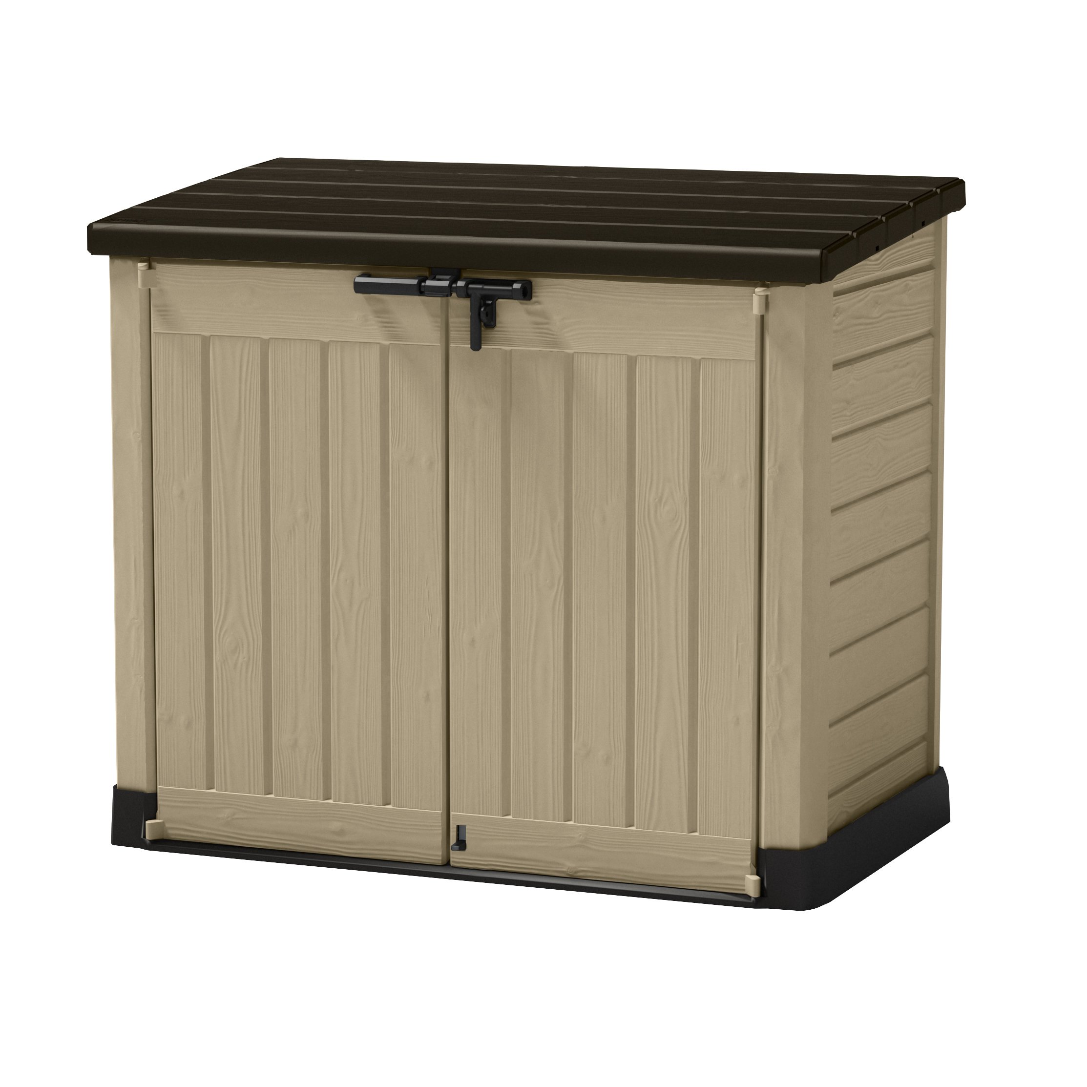 Shop Keter Store-It-Out Max Beige, Brown Resin Outdoor Horizontal Garden  Storage Shed - Free Shipping Today - Overstock - 12364283