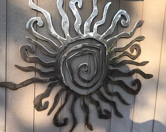 Rustic wall sun decor, indoor outdoor sun, metal sun art, custom sun