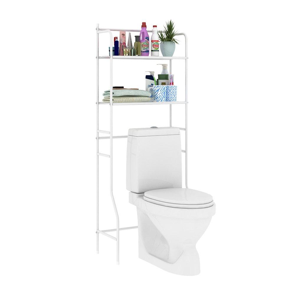 Traveller Location: HOME BI Over The Toilet Storage Bathroom Spacesaver, Free  Standing Metal Bathroom Shelf Storage Shelf Unit, Anti-Rust,White B:  Kitchen & Dining
