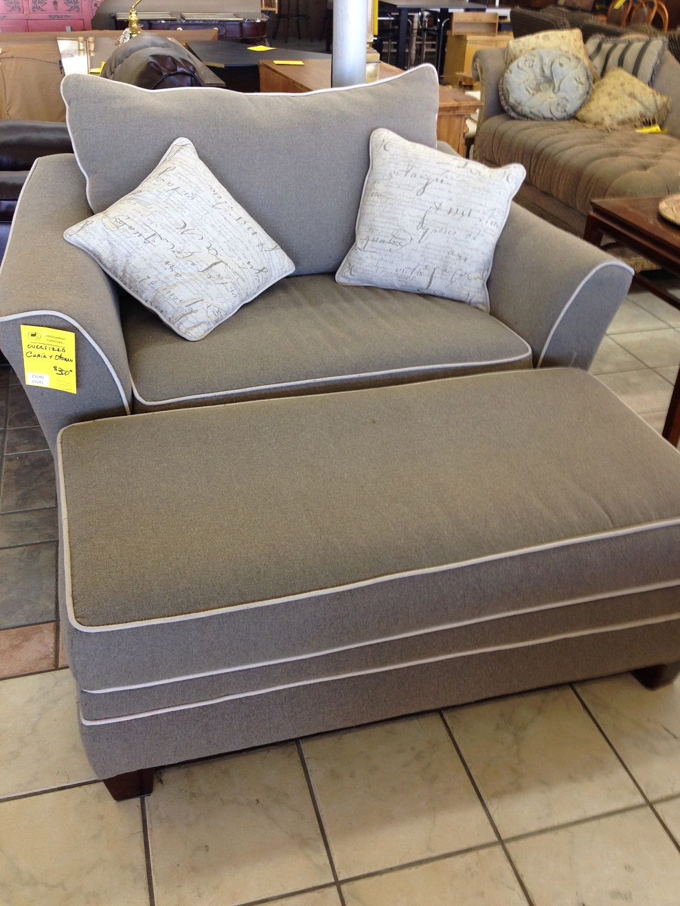 Oversized Living Room Chair And Ottoman