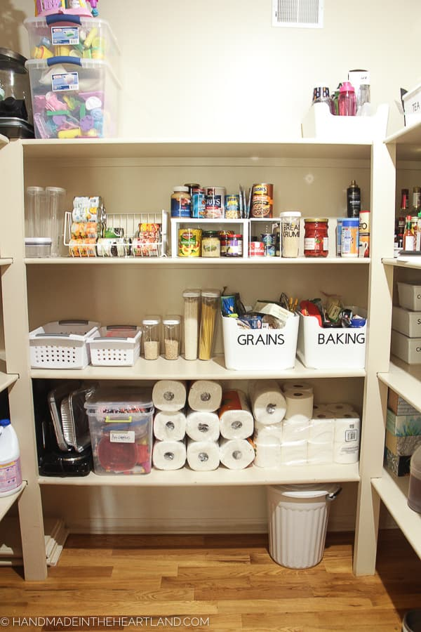 Image of nicely organized large pantry