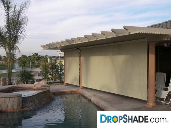 Patio Drop Shades, Exterior Motorized Retractable Shades