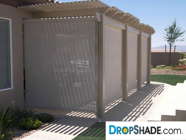 Patio Drop Shades, Exterior Motorized Retractable Shades