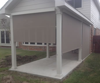 Atlanta Roll Up Patio Shades, Porch Shades