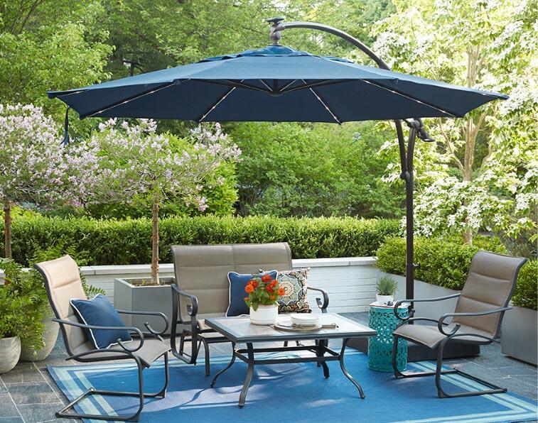 Patio Umbrellas by Style. Cantilever Umbrellas