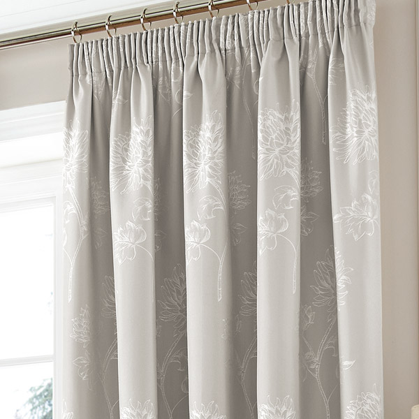 sandhurst grey ready made pencil pleat