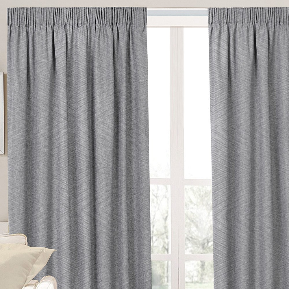 Fusion Textures Dusk Pencil Pleat Curtains Pair. Available Now