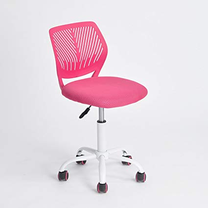 Traveller Location: Pink Office Task Adjustable Desk Chair Mid Back Home Children  Study Chair: Kitchen & Dining
