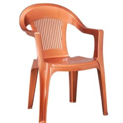 Plastic High Back Arm Rest Chair
