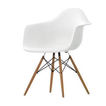 Vitra - Eames Plastic Armchair DAW Ash - white/frame