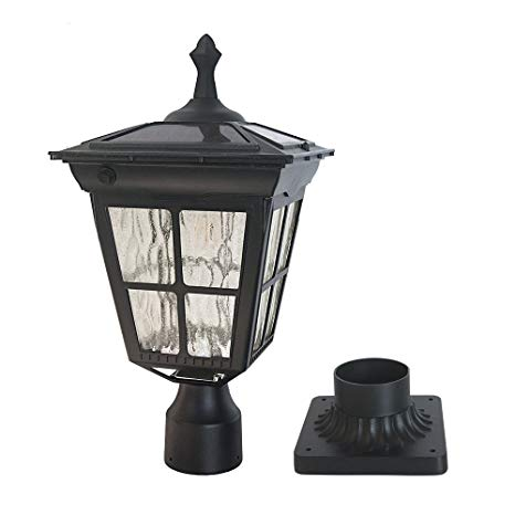 Kemeco ST4311AQ LED Cast Aluminum Solar Post Light Fixture with 3-Inch  Fitter Base for Outdoor Garden Post Pole Mount - - Traveller Location