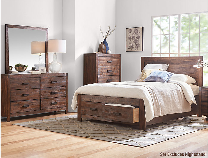 Warner Chestnut Queen Bedroom Set, , large
