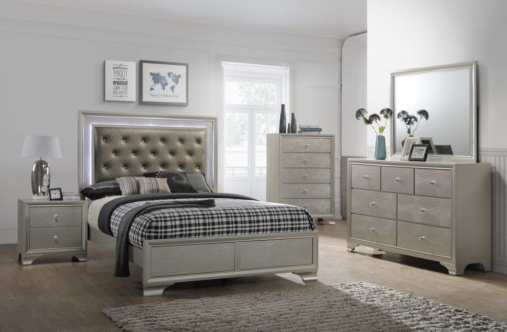 Nikola Bedroom Set Dresser Mirror Queen Bed | 4300 | Bedroom Sets | Price  Busters Furniture