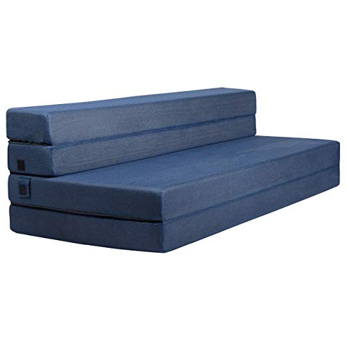 Milliard Tri-Fold Foam Folding Mattress and Sofa Bed for Guests - Queen  78x58x4.