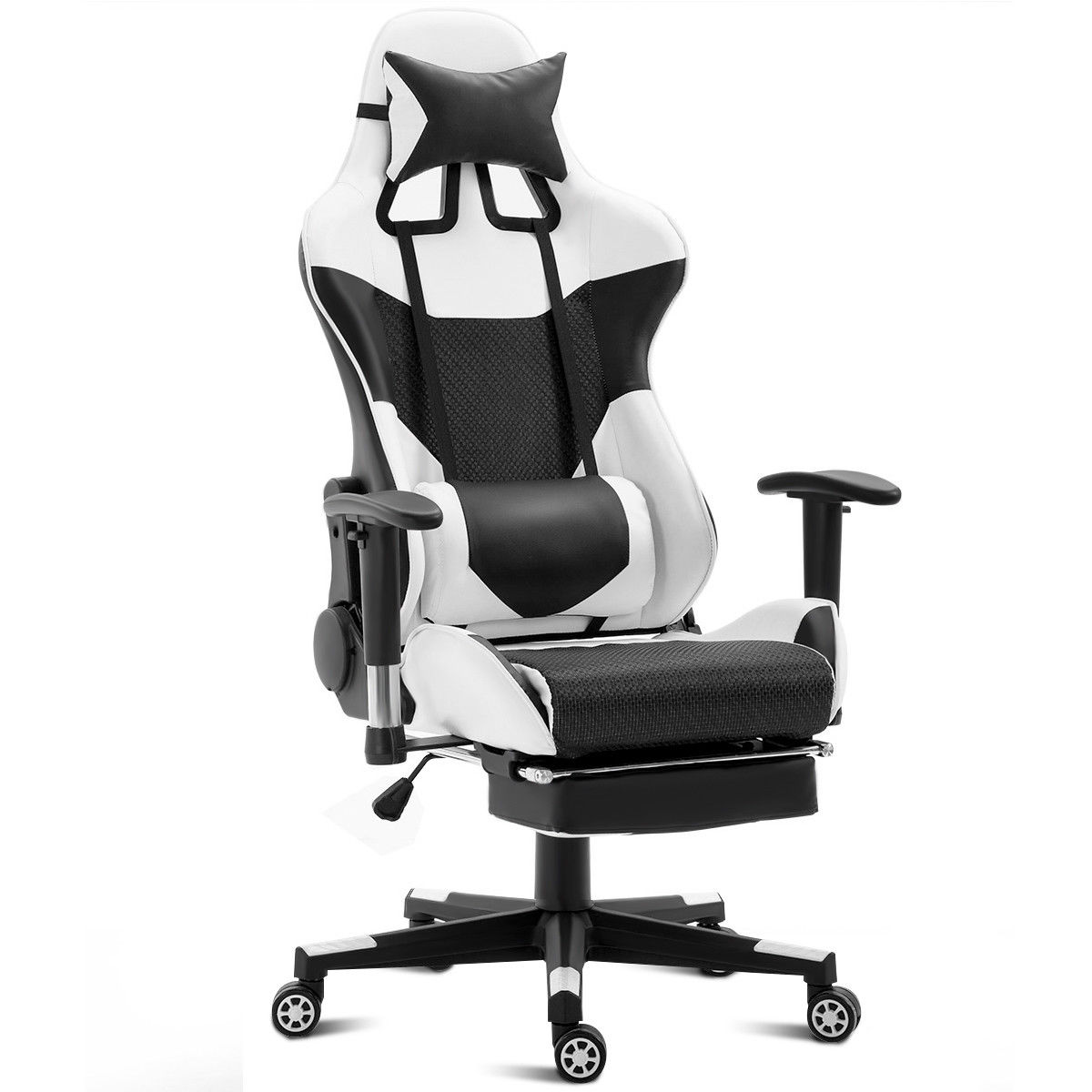 Costway Ergonomic Gaming Chair High Back Racing Office Chair w/Lumbar  Support & Footrest - Traveller Location