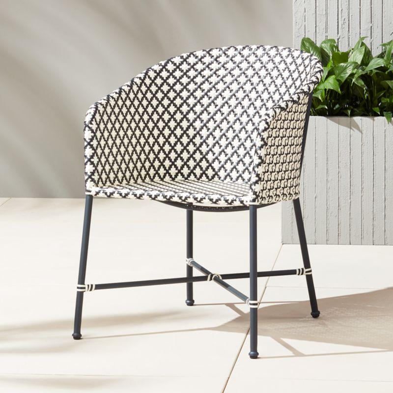 brava dining-lounge grey wicker chair