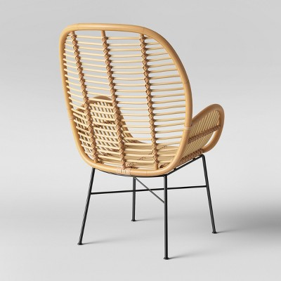 Lily Rattan Arm Chair With Metal Legs - Assembly Required - Opalhouse™ :  Target