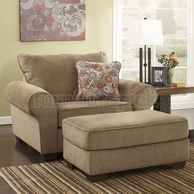 My Comfy Reading Chair & Ottoman. Galand Umber from Ashley