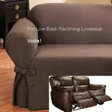Reclining LOVESEAT Slipcover Low Back Ribbed Texture Chocolate Adapted for  Dual Recliner Love Seat | Slipcover 4 recliner couch | Pinterest | Loveseat