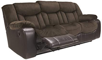 Ashley Furniture Signature Design - Tafton Reclining Sofa - Contemporary  Style - Java