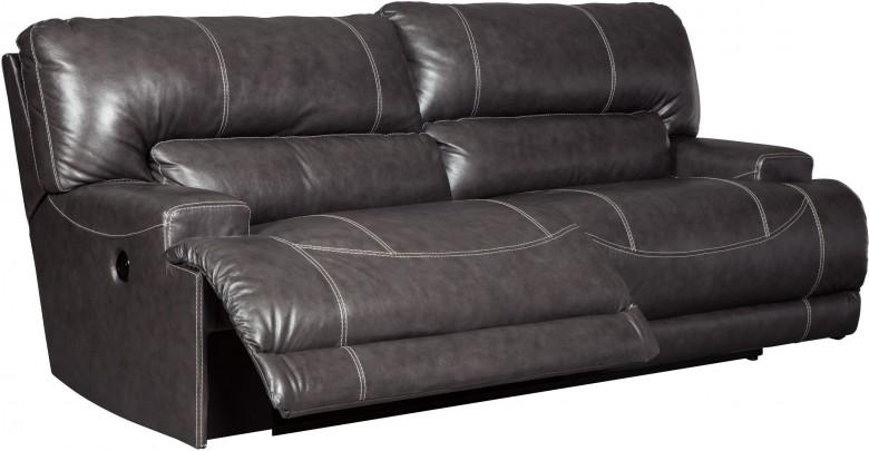 McCaskill Gray 2 Seat Power Reclining Sofa Main Image