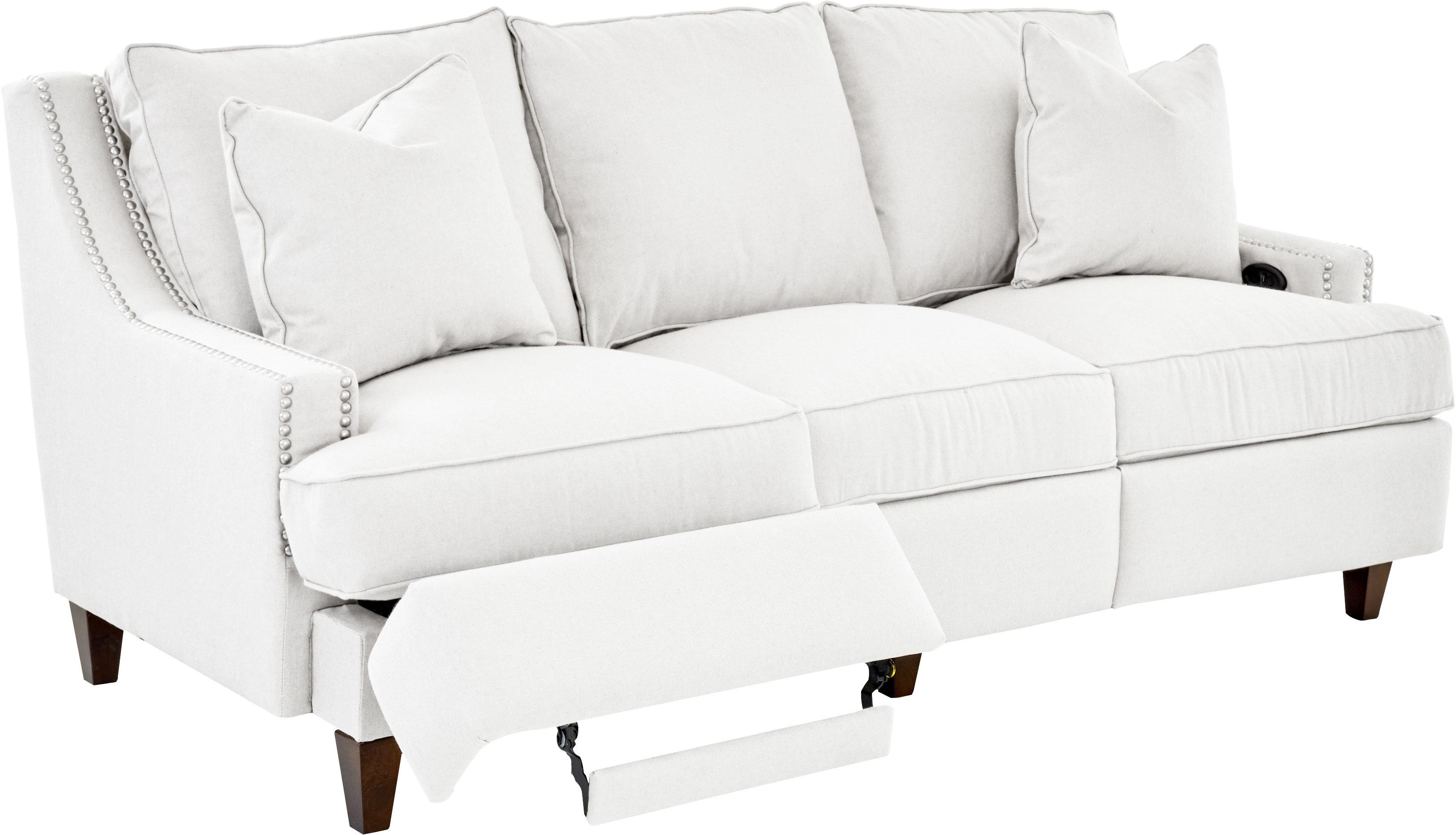 Wayfair Custom Upholstery™ Tricia Power Hybrid Reclining Sofa & Reviews |  Wayfair
