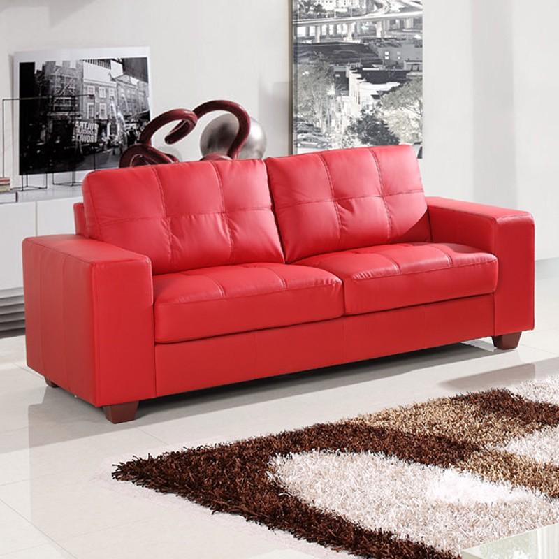 STRADA 3 seater red sofa