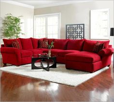 I want a huge sectional like this. A huge house to go with it would